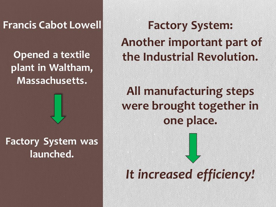 It increased efficiency!