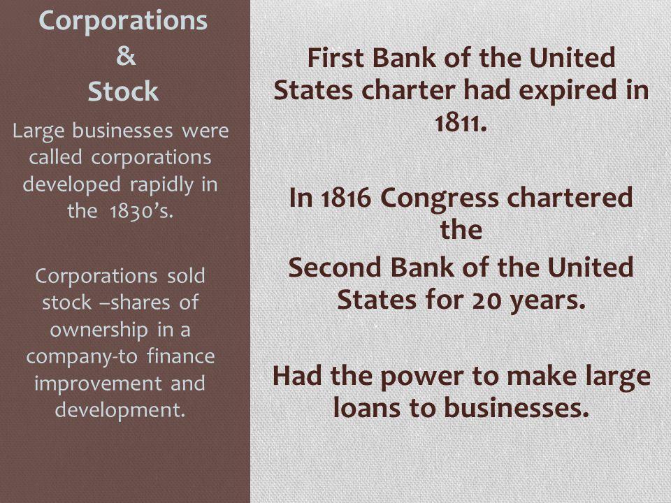 Corporations & Stock