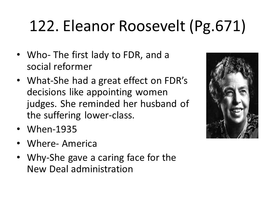122. Eleanor Roosevelt (Pg.671)