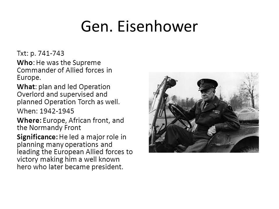 Gen. Eisenhower
