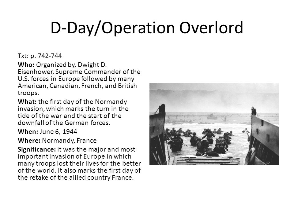 D-Day/Operation Overlord