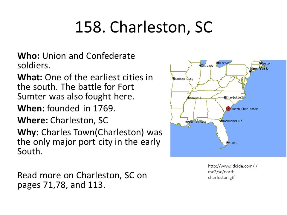 158. Charleston, SC