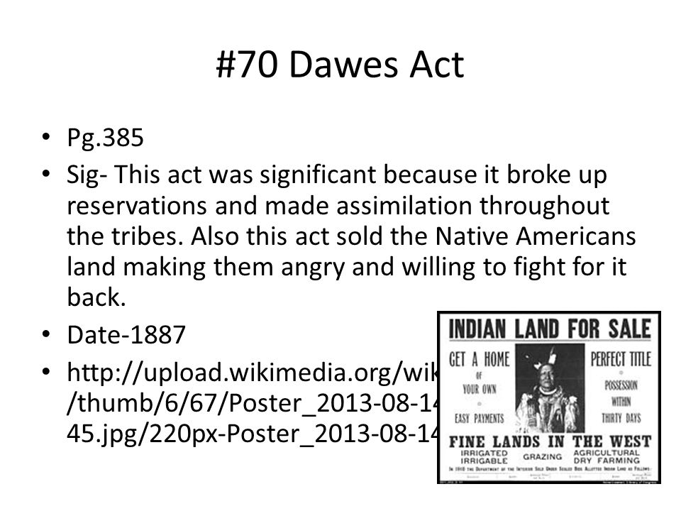 #70 Dawes Act Pg.385.