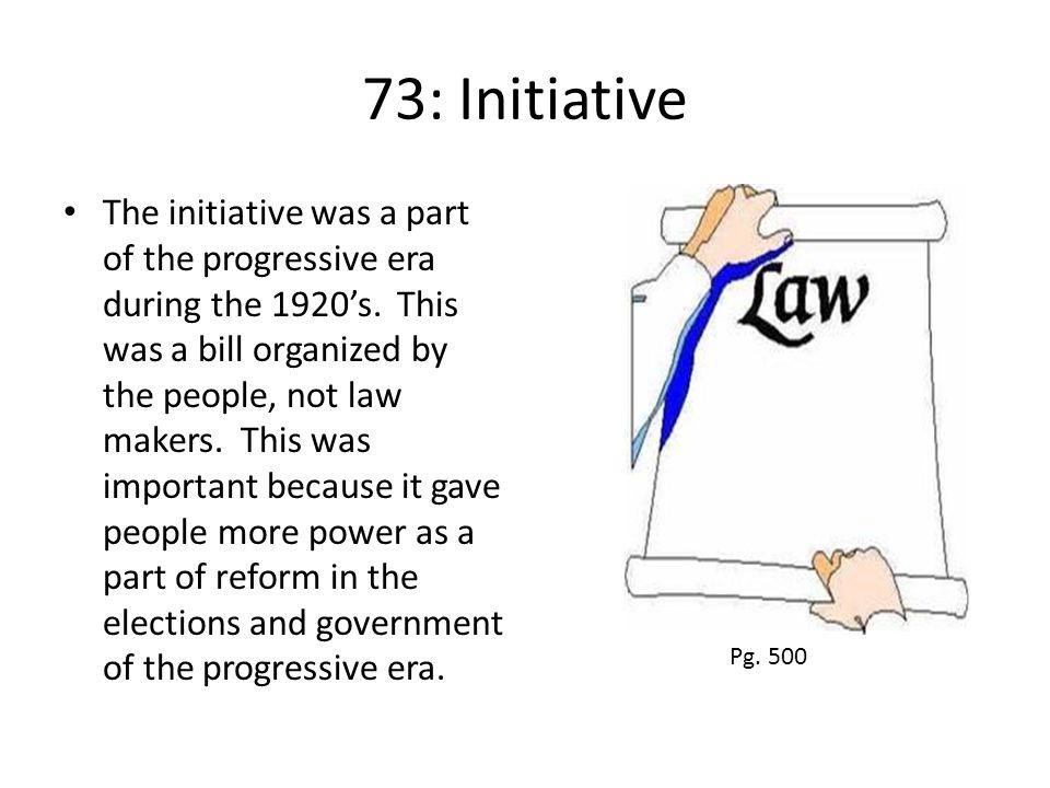 73: Initiative