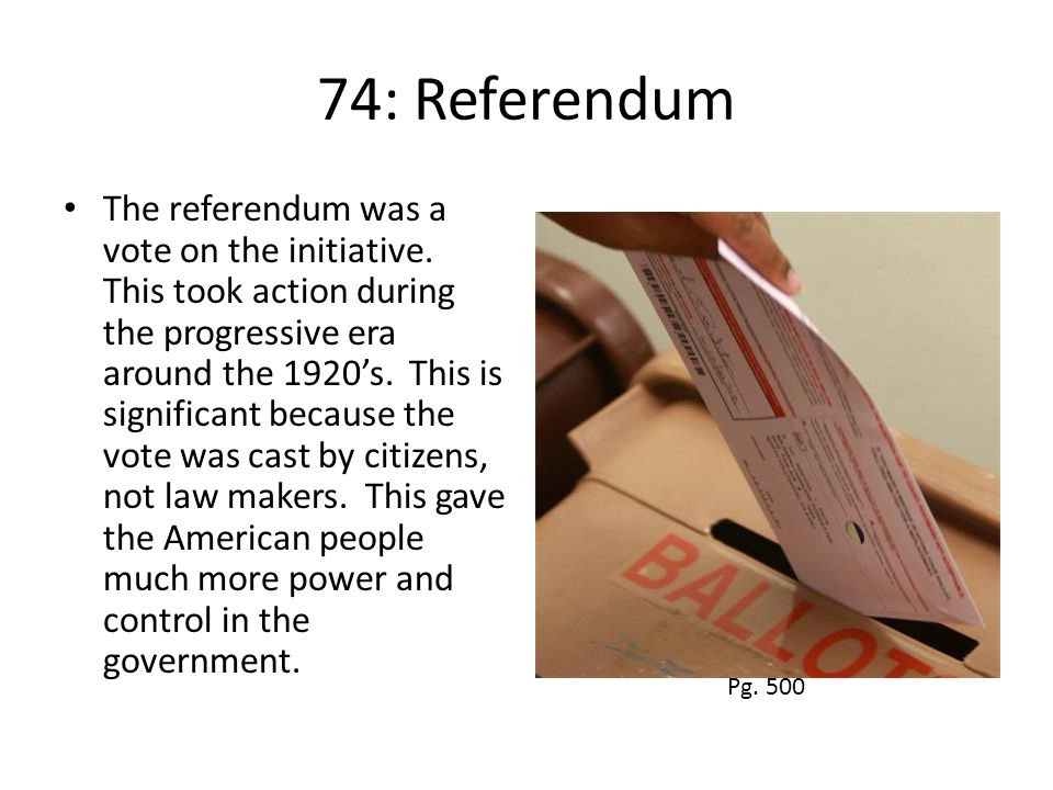 74: Referendum