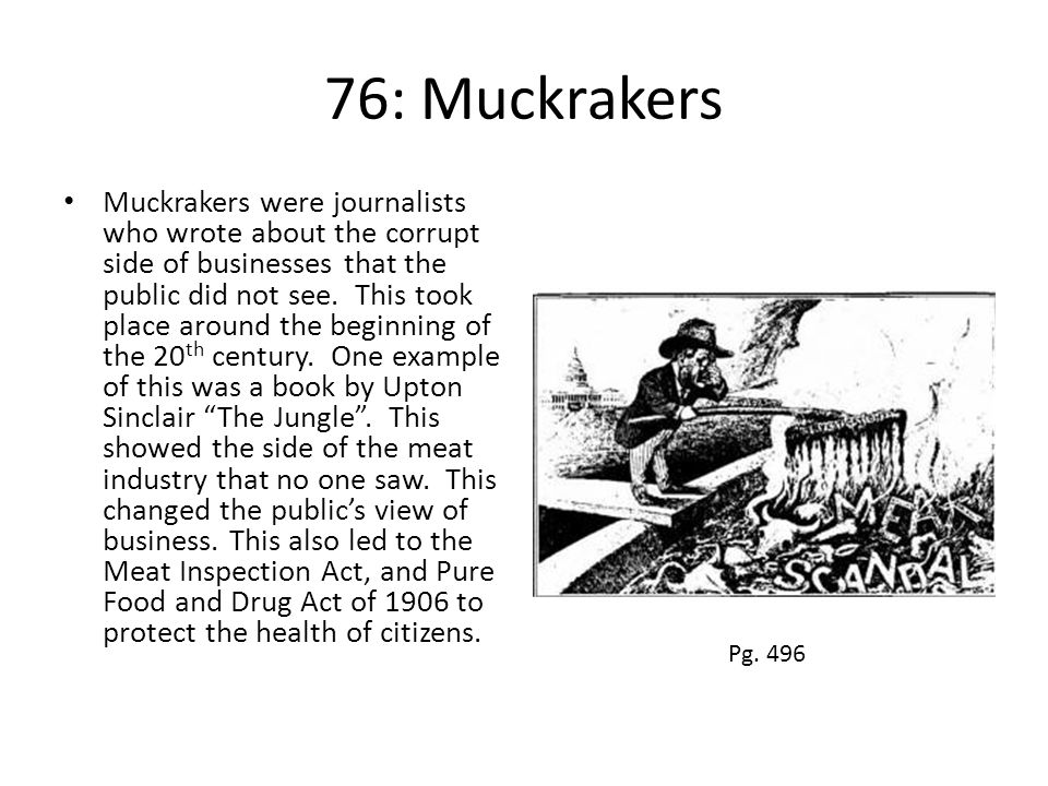 76: Muckrakers