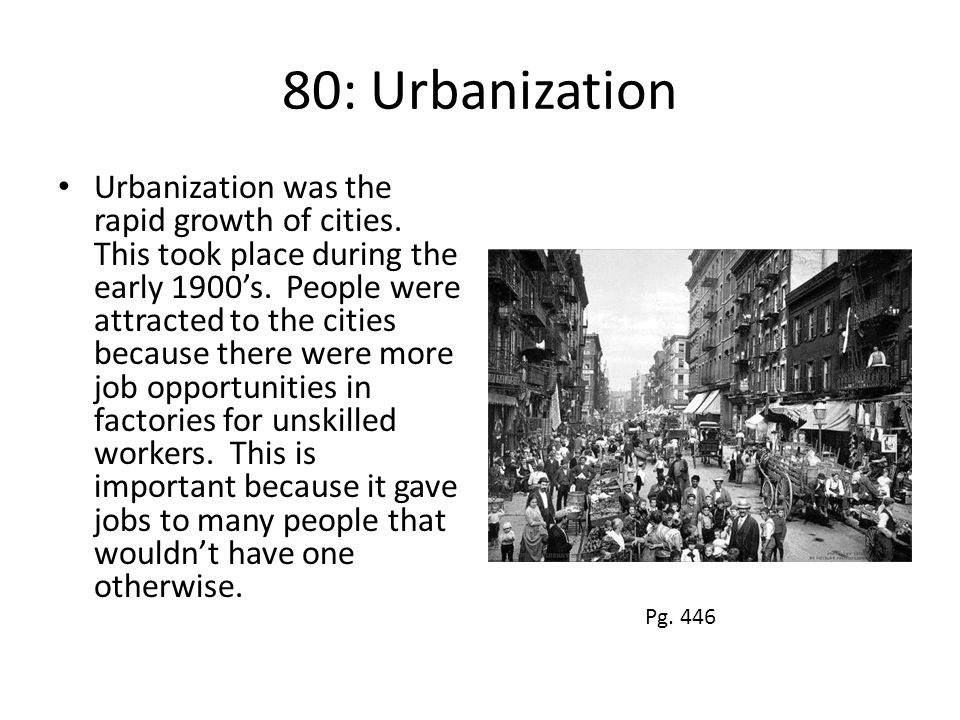 80: Urbanization