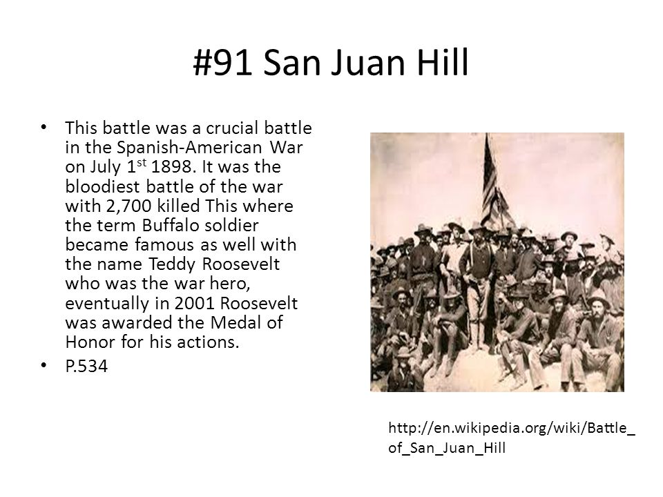 #91 San Juan Hill