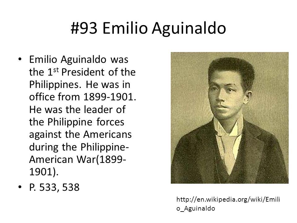 #93 Emilio Aguinaldo