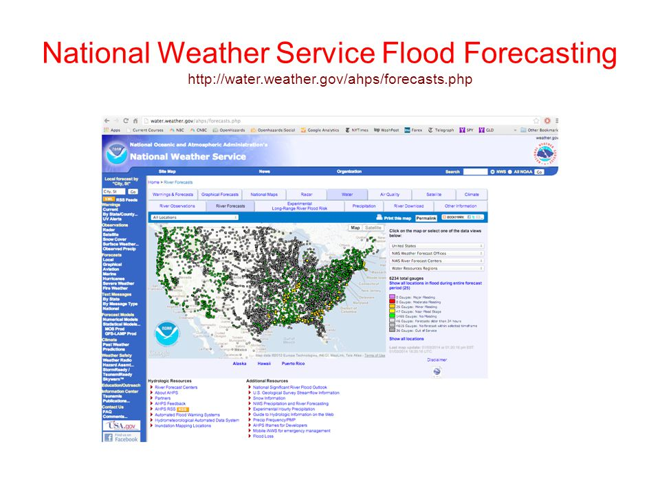National Weather Service Flood Forecasting http://water. weather