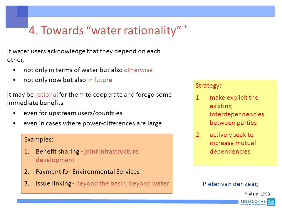 4. Towards water rationality *