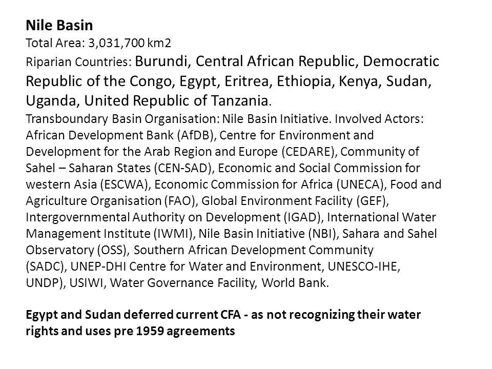 Nile Basin Total Area: 3,031,700 km2