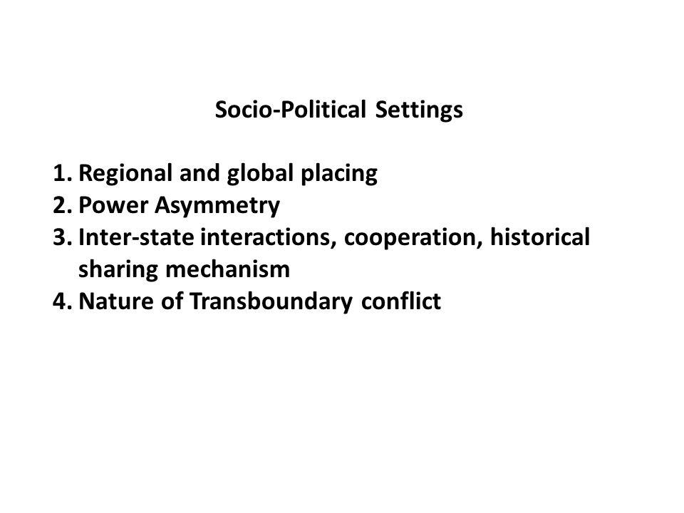 Socio-Political Settings