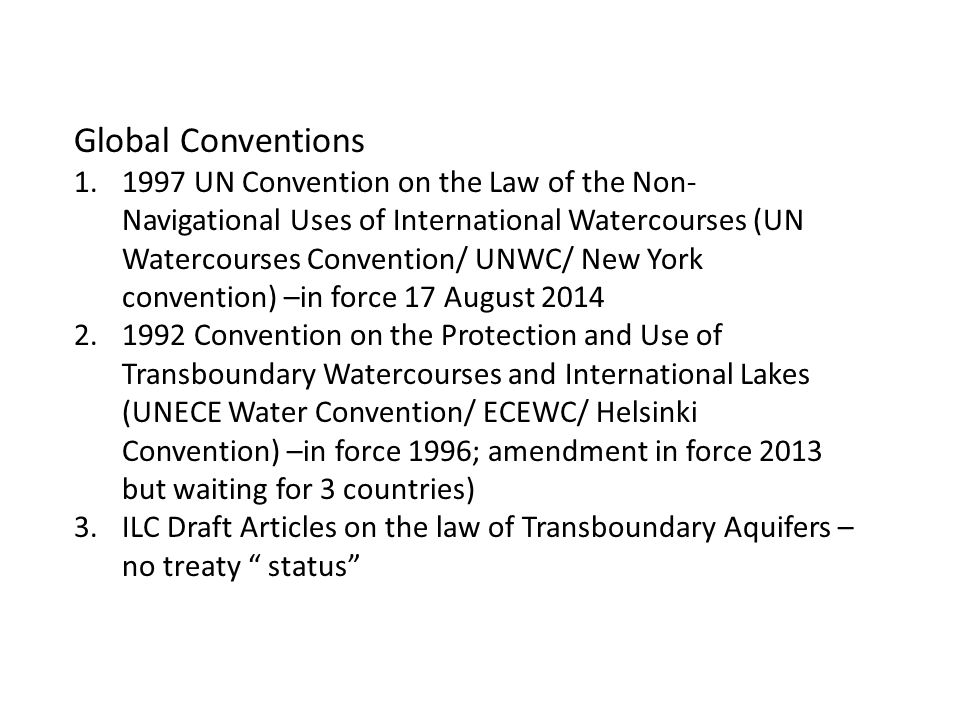 Global Conventions