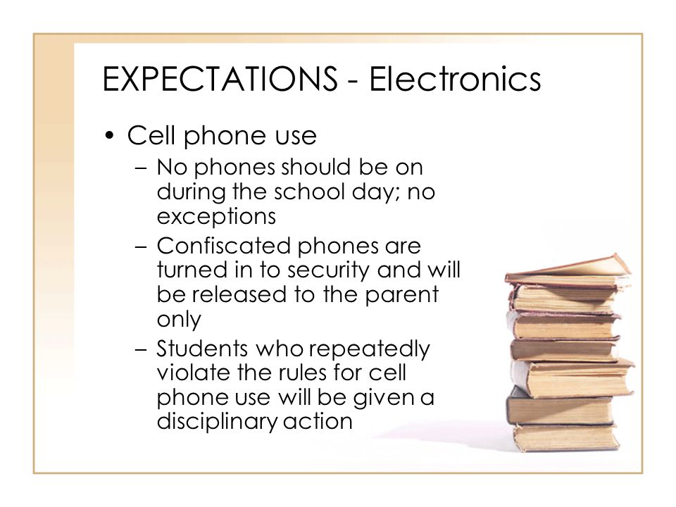 EXPECTATIONS - Electronics
