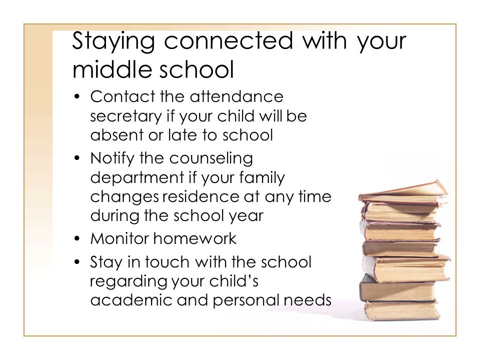 Staying connected with your middle school