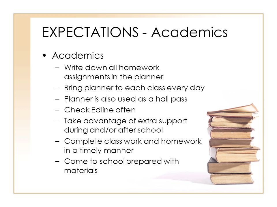EXPECTATIONS - Academics