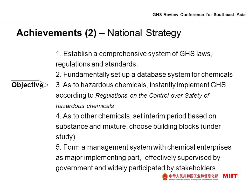 Achievements (2) – National Strategy