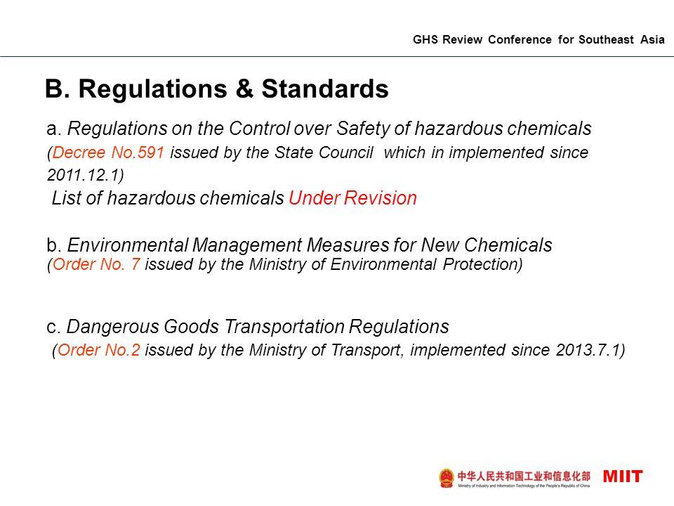 B. Regulations & Standards