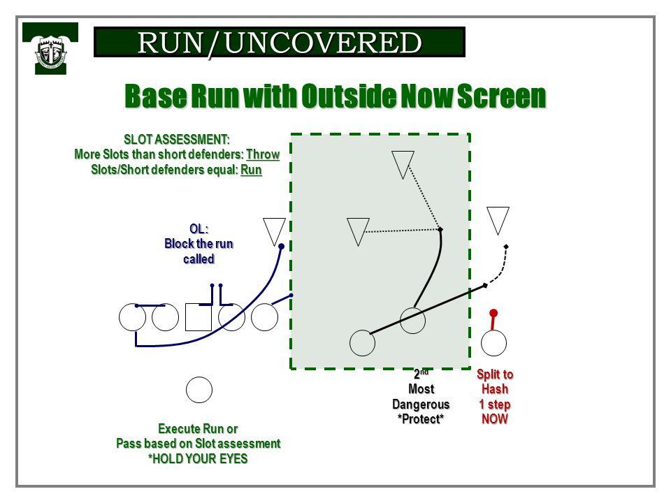 Base Run with Outside Now Screen
