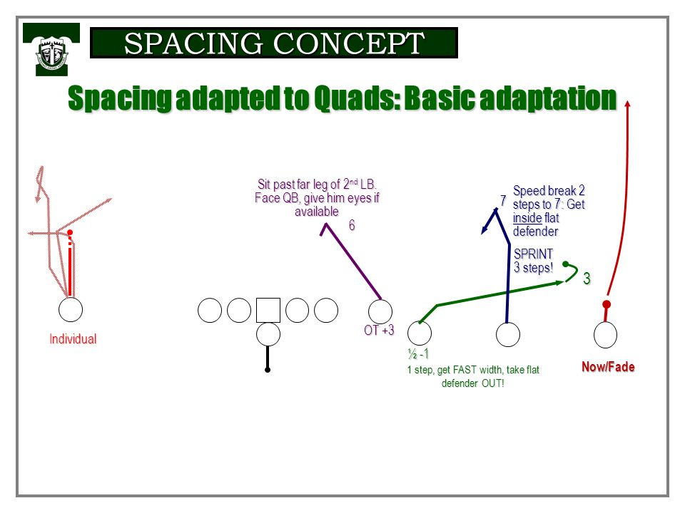 Spacing adapted to Quads: Basic adaptation