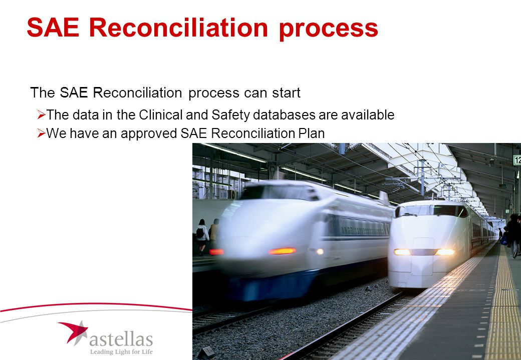 SAE Reconciliation process