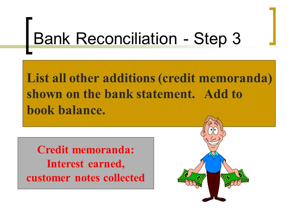 Bank Reconciliation - Step 3