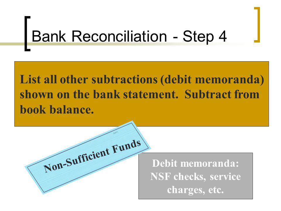 Bank Reconciliation - Step 4