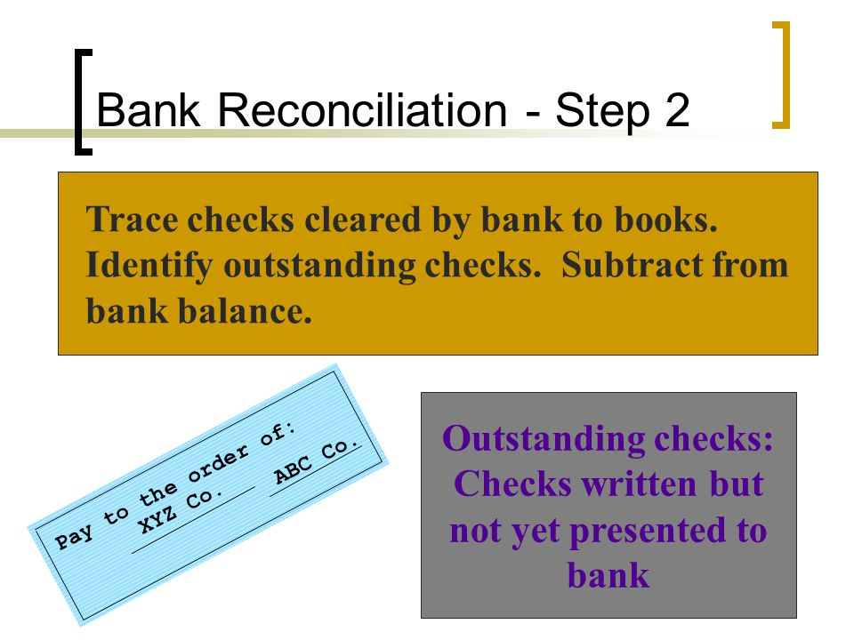 Bank Reconciliation - Step 2