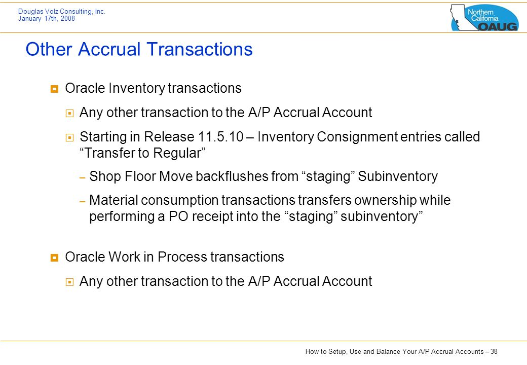 Other Accrual Transactions