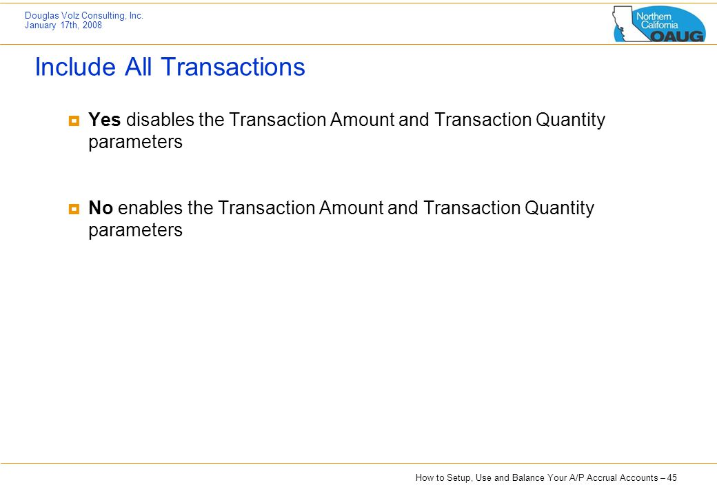 Include All Transactions