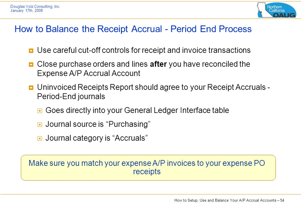How to Balance the Receipt Accrual - Period End Process