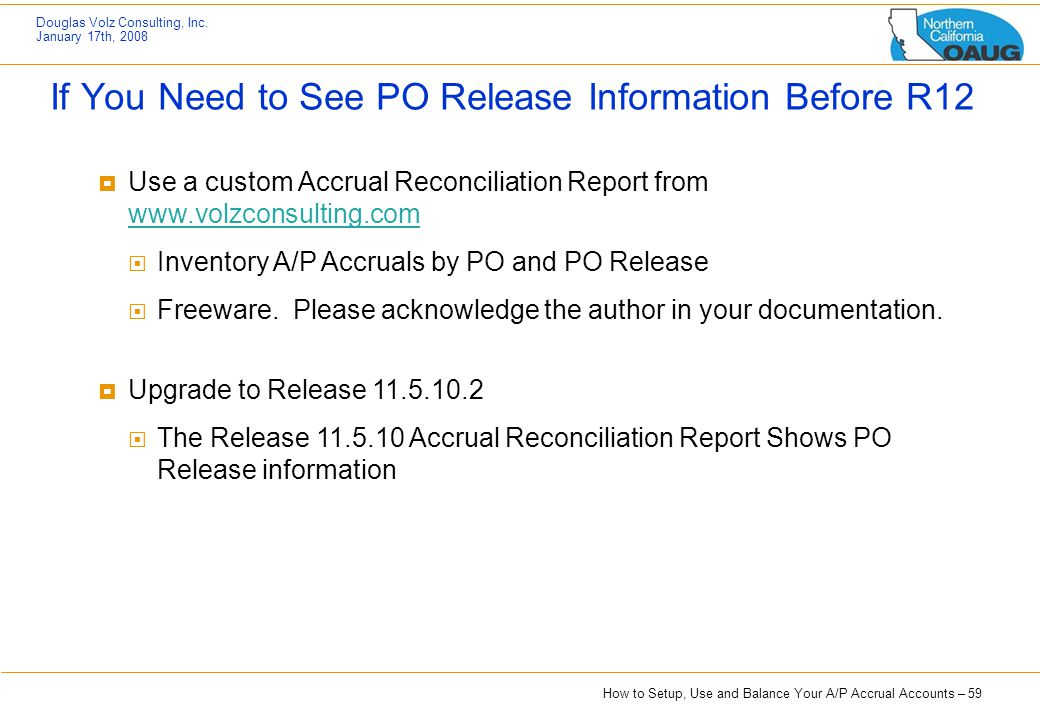 If You Need to See PO Release Information Before R12