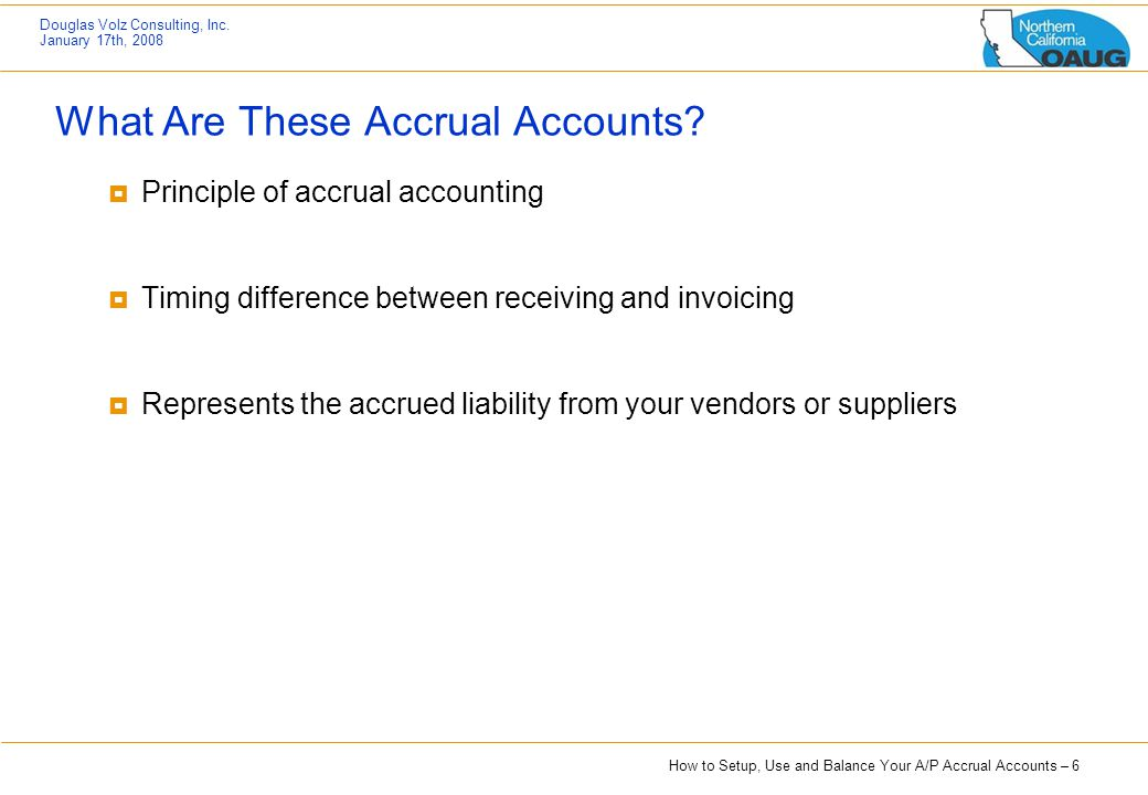 What Are These Accrual Accounts