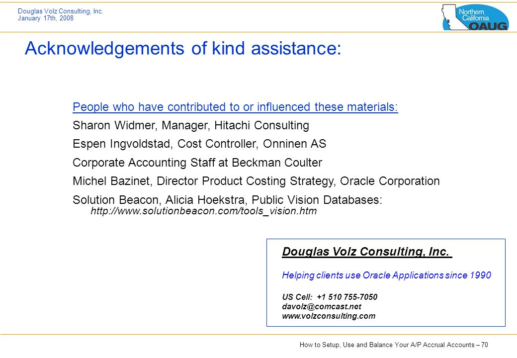 Acknowledgements of kind assistance: