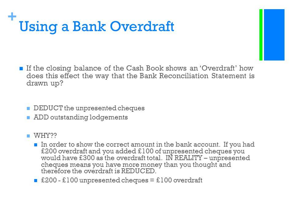 Using a Bank Overdraft