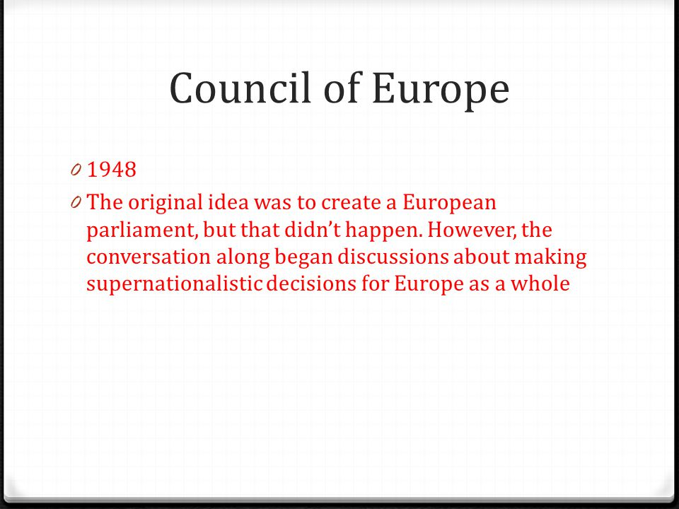 Council of Europe 1948.
