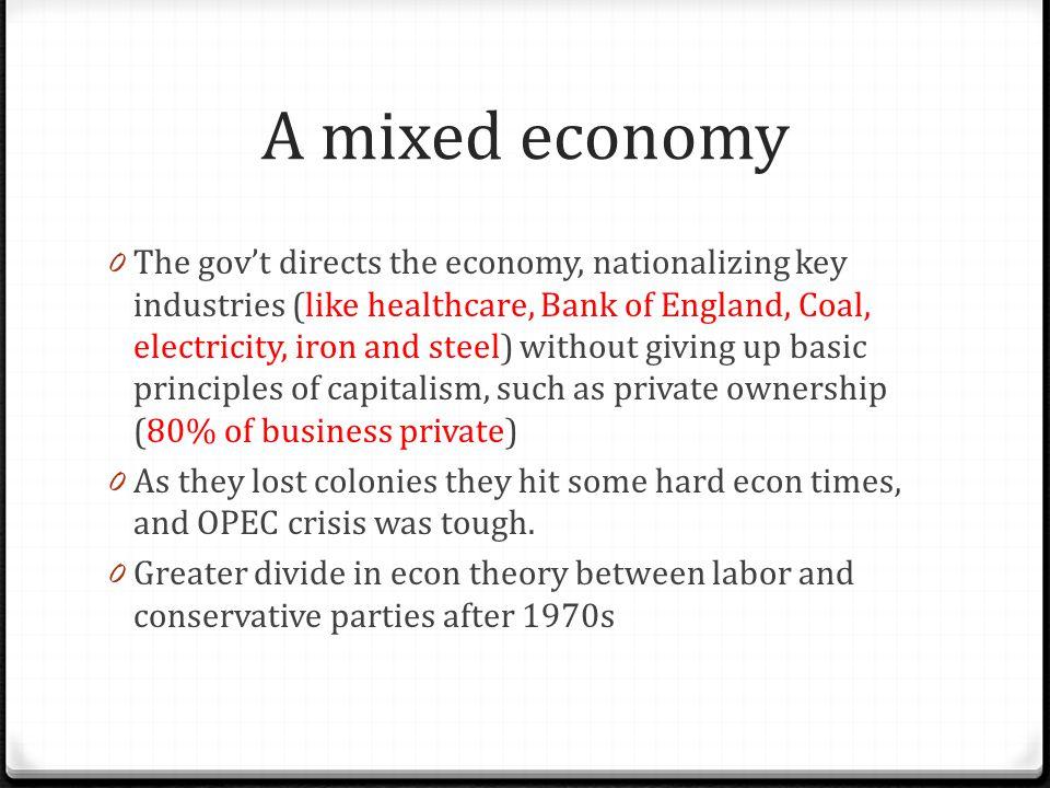 A mixed economy