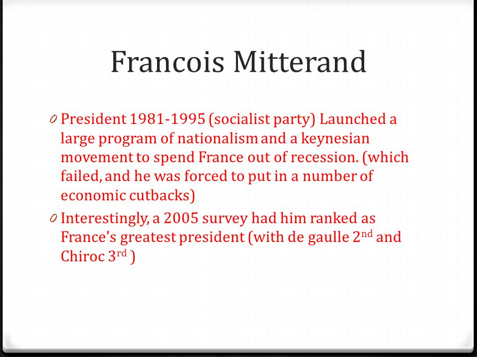Francois Mitterand