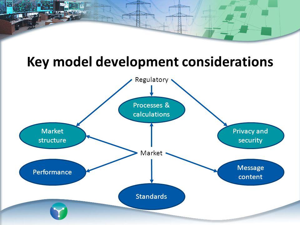 Key model development considerations