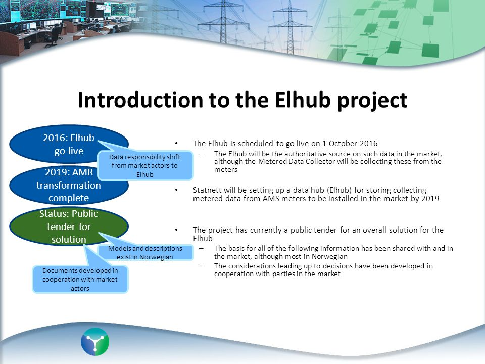 Introduction to the Elhub project