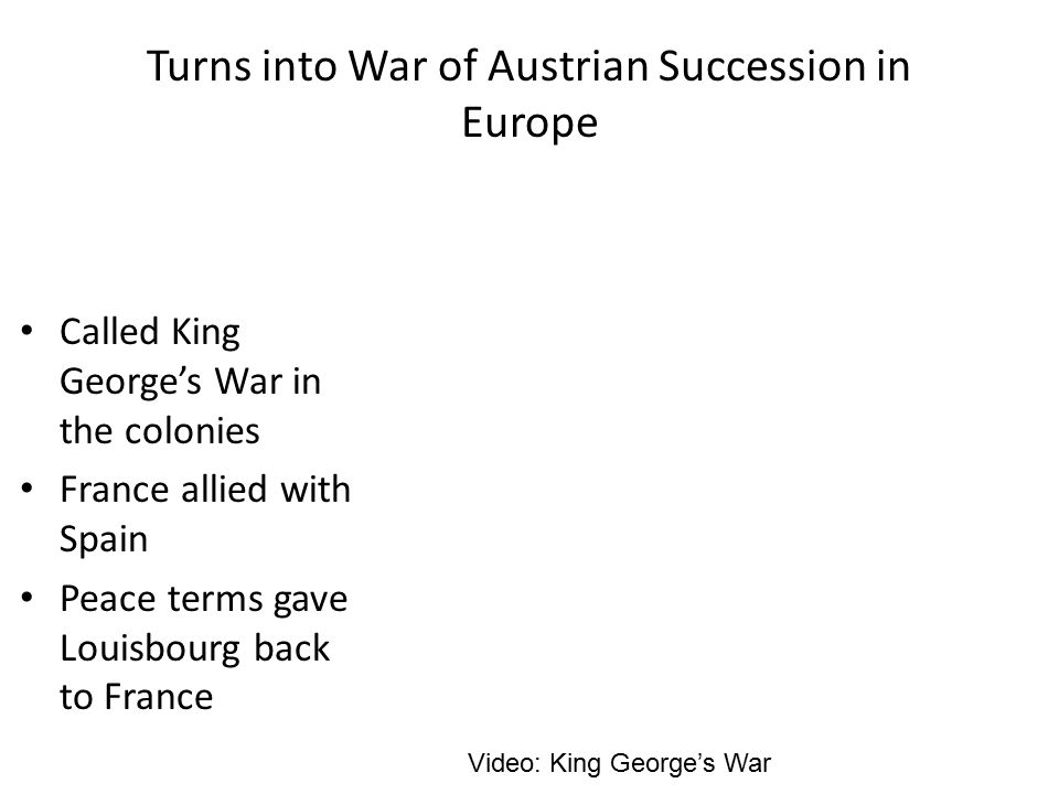 Turns into War of Austrian Succession in Europe