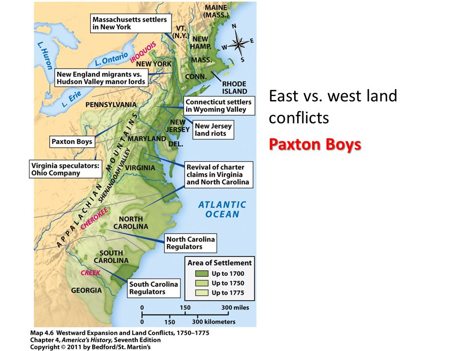 East vs. west land conflicts