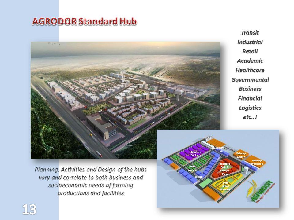 AGRODOR Standard Hub Transit Industrial Retail Academic Healthcare