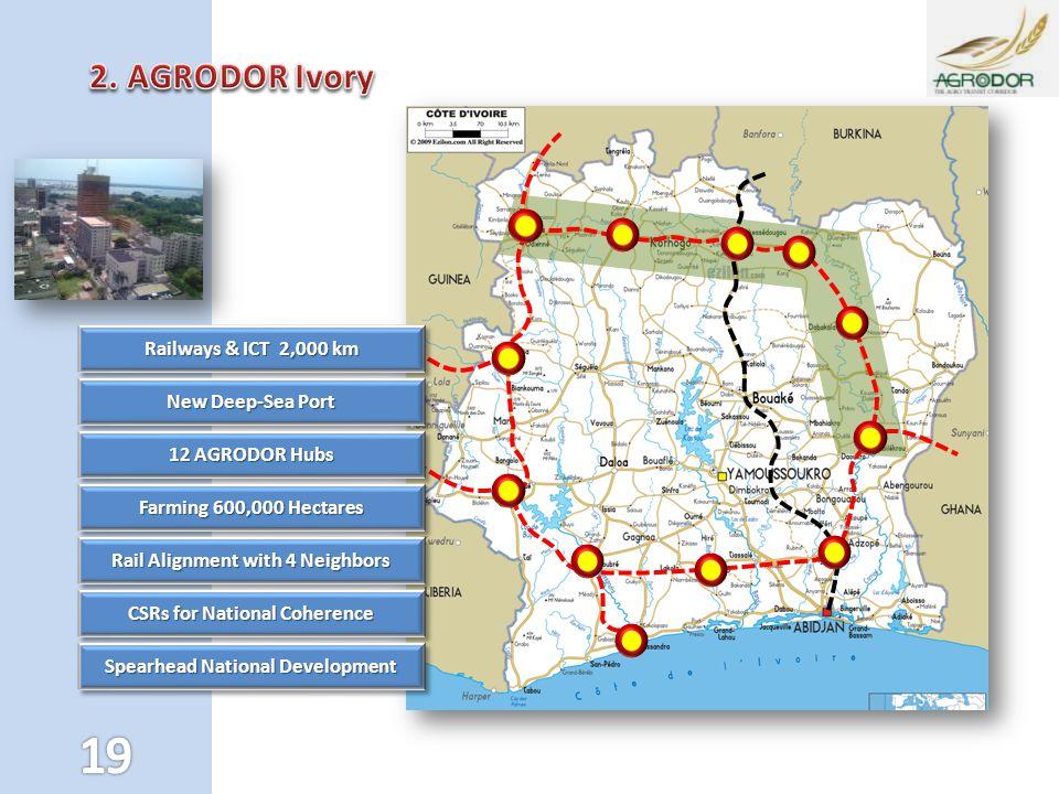 2. AGRODOR Ivory Railways & ICT 2,000 km New Deep-Sea Port