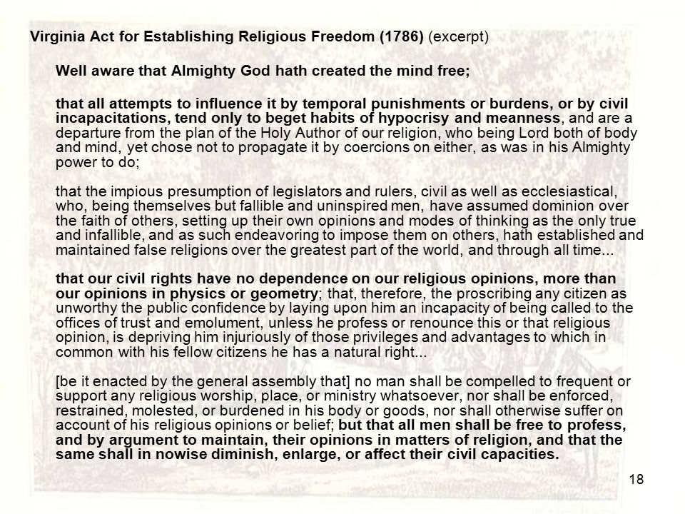 Religion in the Constitution