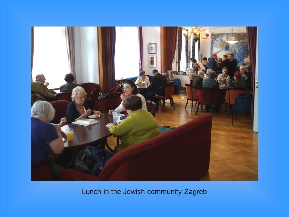 Lunch in the Jewish community Zagreb