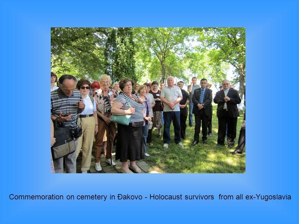 Commemoration on cemetery in Đakovo - Holocaust survivors from all ex-Yugoslavia