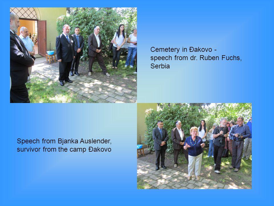 Cemetery in Đakovo - speech from dr. Ruben Fuchs, Serbia.