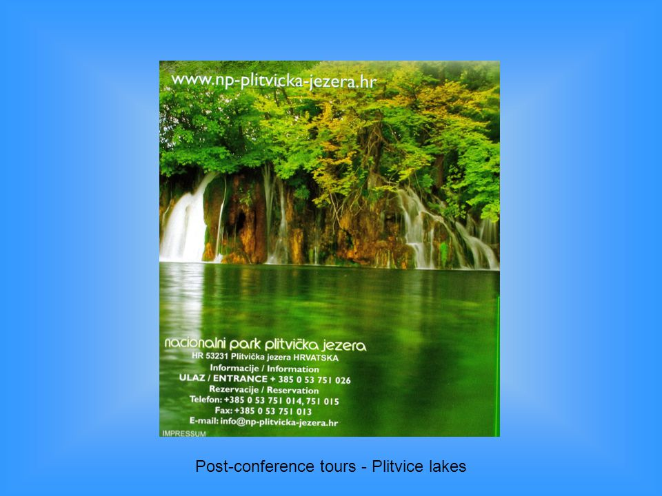 Post-conference tours - Plitvice lakes